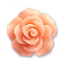 18mm Salmon Resin Rose Bloom Cabochon
